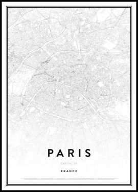 Map of Paris Poster