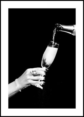 A Glass of Champagne Poster