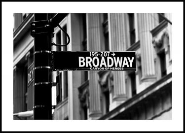 Broadway Sign Poster
