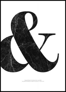 FASHION Art PRINT Black Ampersand Marble Picture Poster Wall Art *