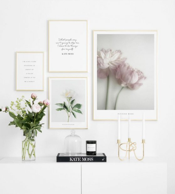 Inspiration fashion and botanical gallery wall