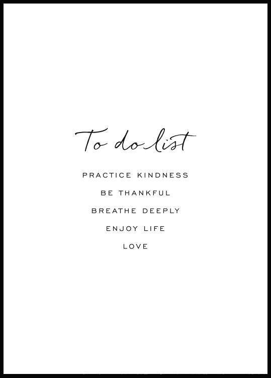 To Do List Poster