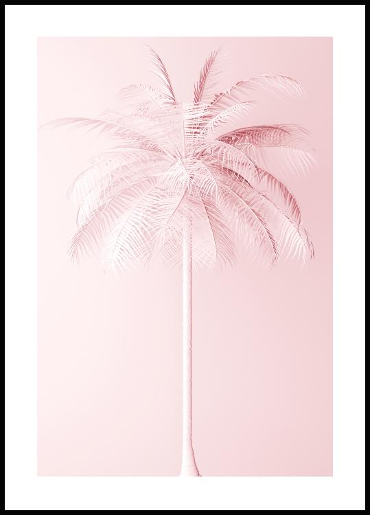 Pink Palm Poster