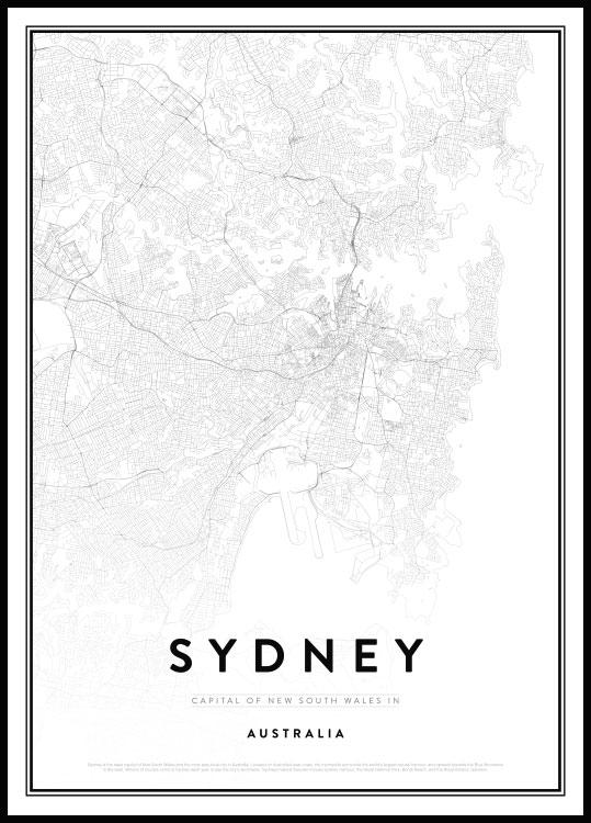 Map of Sydney Poster