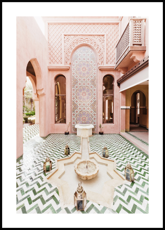 Moroccan Fountain Poster