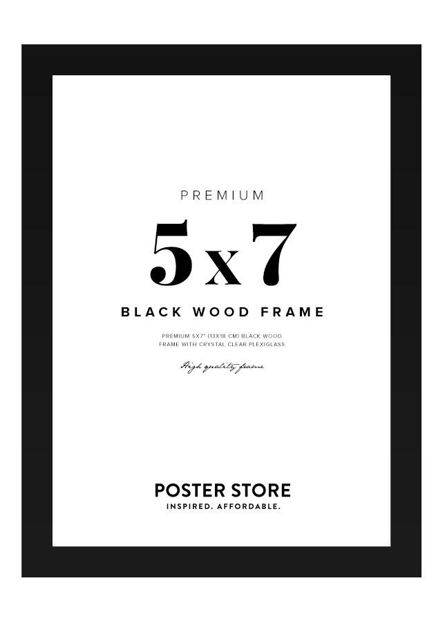 Black Wood Frame 5x7 in