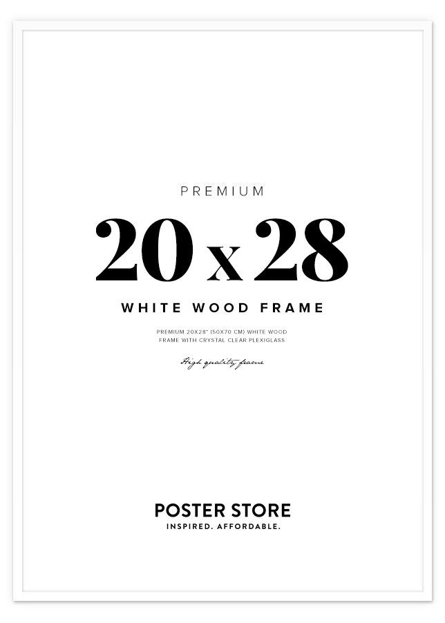 White Wood Frame 20x28 in