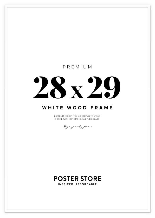 White Wood Frame 28x39 in